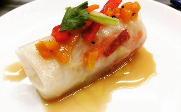 Rollitos Primavera con Tofu crujiente